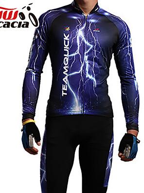 Acácia® Calça com Camisa para Ciclismo Unissexo Manga Comprida MotoRespirável / Design Anatômico / Á Prova-de-Pó / Sem costura / Sem