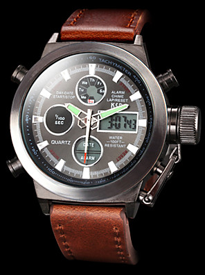 Men's Multifunctional Analog Digital Wristwatches Luxury Calendar 50M Waterproof Military Sports Watches Fashion Wrist Watch Cool Watch Unique Watch