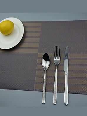 """2stk europæisk stil høj kvalitet pvc spisning coastere table dækkeservietter (12 """"x18"""")"""
