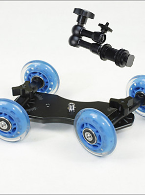 tabletop profissional DSLR câmera dolly controle deslizante skater caminhão roda estabilizador para 5d2 vídeo eos mãos mágicas 7 polegadas