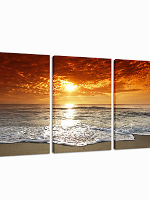 visuele star®sunrise stretched canvas afdrukken muur decor doek 3 pannel kunst klaar te hangen