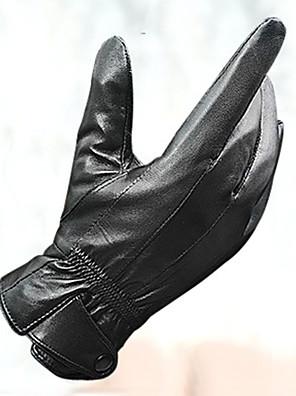 כפפות כפפות ספורט/ פעילות לגברים כפפות רכיבה סתיו / חורף כפפות אופניים שמור על חום הגוף / עמיד בפני רוחות / עור כבשעל כל האצבע / כפפןת