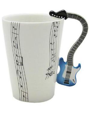 Guitar kop violin keramisk kop porcelæn emalje kaffe te krus kop