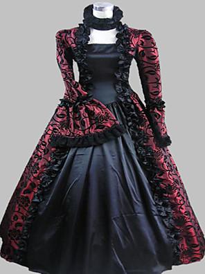 Jednodílné/Šaty Gothic Lolita Steampunk® / Viktoria Tarzı Cosplay Lolita šaty Fialová Retro Dlouhé rukávy Long Length Šaty Pro Dámské