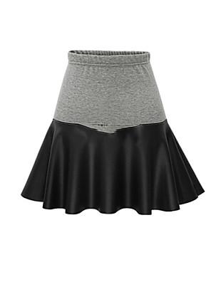 Katoen - Micro-elastisch - Schattig / Grote maten - Boven de knie - Vrouwen - Rokken