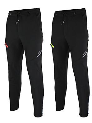 Arsuxeo® מכנסי רכיבה לגברים עמיד למים / שמור על חום הגוף / עמיד / בטנת פליז / רצועות מחזירי אור אופניים מכנסיים / תחתיות פוליאסטר / גיזות