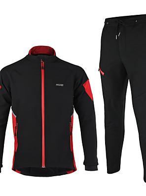 Arsuxeo® Cyklo bunda a kalhoty Pánské Dlouhé rukávy Jezdit na koleZahřívací / Větruvzdorné / Anatomický design / Voděodolný zip /