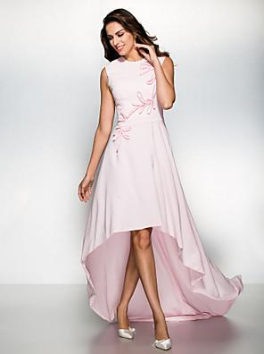 ts couture® formale Abend a-line Juwel asymmetrische Chiffon mit Appliques Kleid