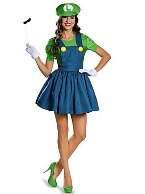 Cosplay Kostýmy / Kostým na Večírek Filmové a TV kostýmy Festival/Svátek Halloweenské kostýmy Červená / Zelená PatchworkŠaty / Rukavice /