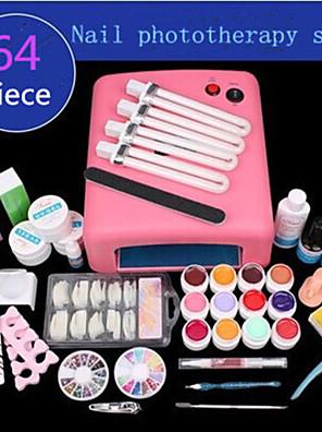 1set manikür malzemeleri fototerapi manikür uv lambası fototerapi set fototerapi tutkal 64 adet