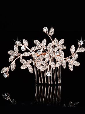 Ženy / Malé družičky imitace drahokamu / Imitace perly Přílba-Svatba / Zvláštní příležitost Hřebeny na vlasy Jeden díl