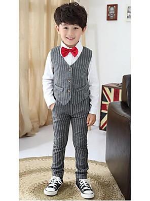 Czarny / Stříbro Polyester Oblek pro mládence - 3 Pieces Obsahuje