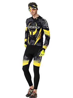 Conjuntos de Roupas/Ternos ( Amarelo ) - de Ciclismo / Trilha / Sertão / Motorbike / Triathlon - Homens -Respirável / Isolado / Zíper