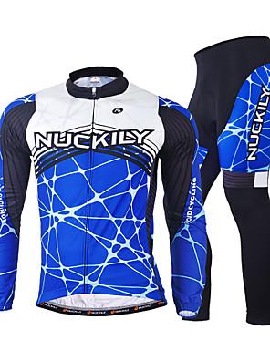NUCKILY® ג'קט ומגנסיים לרכיבה לגברים שרוול ארוך אופנייםנושם / שמור על חום הגוף / עיצוב אנטומי / בטנת פליז / מבודד / רוכסן קדמי / תיק קטל