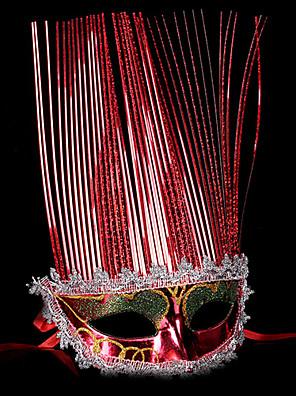 מסכה / נשף מסכות מלאך ושטן פסטיבל/חג תחפושות ליל כל הקדושים אדום / זהוב / כסף אחיד מסכה האלווין (ליל כל הקדושים) / קרנבל יוניסקסמתכתי