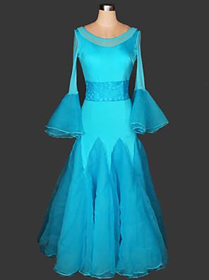 ריקודים סלוניים שמלות בגדי ריקוד נשים ביצועים Chinlon / תחרה עטוף חלק 1 שמלות 125cm