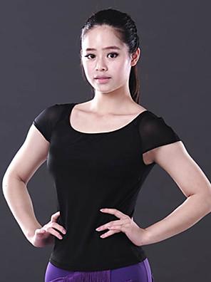 Dança de Salão Blusas Mulheres Actuação Elastano Pano 1 Peça Top Tops length M:49cm / L:51cm / XL:53cm