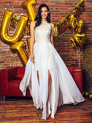 공식적인 저녁 couture® TS는 레이스와 온라인 보석 바닥 길이 쉬폰 / 레이스 드레스