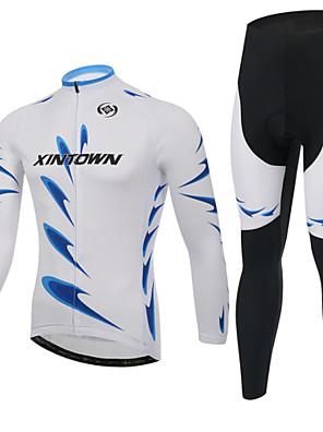 XINTOWN® Cyklo bunda a kalhoty Unisex Dlouhé rukávy Jezdit na koleZahřívací / Zateplená podšívka / Tepelná izolace / Nešmodrchá se / 3D