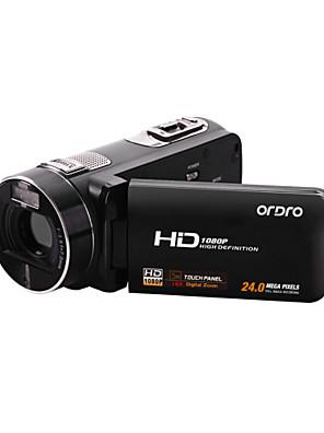 """ordro® HDV-Z8 1080p digitální videokamera, 3 """"dotykový TFT displej, 16x digitální zoom, dálkové ovládání"""