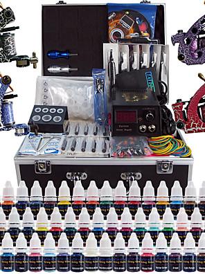 solong tatovering komplet tatovering kit 4 pro maskiner 54 blæk strømforsyning fod pedal kanyler greb tips tk456