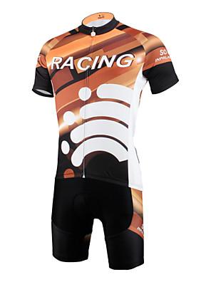 PALADIN® חולצת ג'רסי ומכנס קצר לרכיבה לגברים שרוול קצר אופנייםנושם / ייבוש מהיר / עמיד אולטרה סגול / דחיסה / חומרים קלים / כיס אחורי /