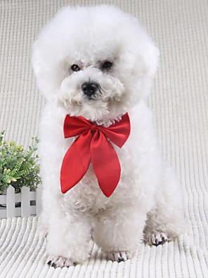 Cães Gravata/Gravata Borboleta Vermelho / Preto Roupas para Cães Inverno / Primavera/Outono Laço Fofo / Casamento / Natal