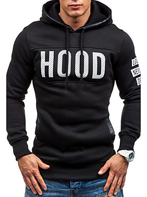 Men's Long Sleeve Hoodie & Sweatshirt,Cotton Print