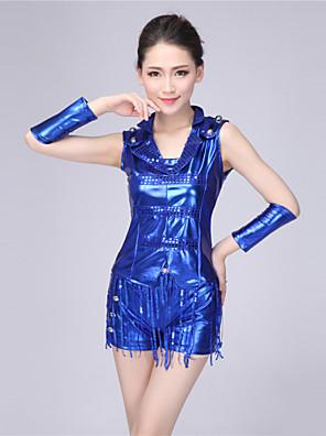 ג'אז תלבושות בגדי ריקוד נשים ביצועים כותנה נצנצים / גדיל (ים) 5 חלקים בלי שרוולים גבוה כפפות / עליון / חגורה / שורטים 75-80cm