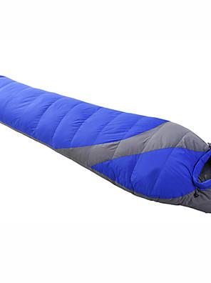 שק שינה שק שינה מומיה יחיד -8--28 פלומת ברווז 1500g 215cmX78cm קמפינג / לטייל / חוץ / בתוך הביתחדירות ללחות / נשימה / בידוד חום / עמיד