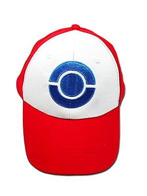 Čepice / klobouk Inspirovaný Pocket Monster Ash Ketchum Anime a Videohry Cosplay Doplňky Nabírané / Klobouk Biały / Czerwony Terylen