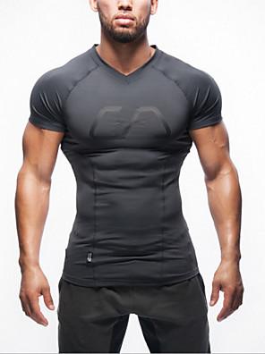 צמרות-לגברים-נושם / נגד חשמל סטטי / שמור על חום הגוף-שרוול ארוך(אדום / אפור בהיר / כחול בהיר)