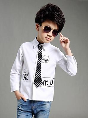 Boy's Cotton Shirt,All Seasons / Spring / Fall Long Sleeve