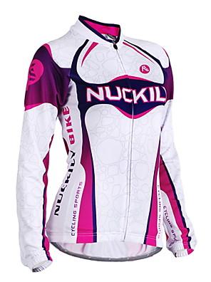 NUCKILY® Camisa para Ciclismo Mulheres Manga Comprida MotoRespirável / A Prova de Vento / Design Anatômico / Resistente Raios