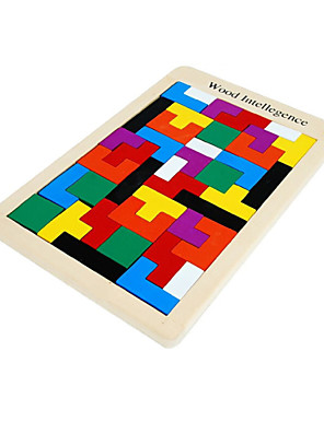 2016 New Design Funny Colorful Tangram Puzzle Tetris Game Educational Developmental Baby Toy