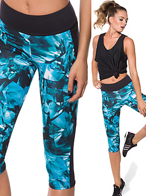 Running Compression Clothing / 3/4 Tights / Leggings / Bottoms Women'sBreathable / Quick Dry / Compression / Lightweight Materials /
