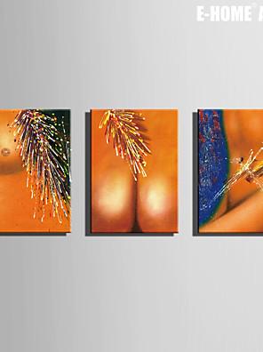 Ritratti / Fantasia Print Canvas Tre Pannelli Pronto da appendere,Orizzontale