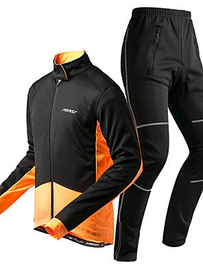 KOSHBIKE / KORAMAN® חולצה וטייץ לרכיבה לגברים שרוול ארוך אופנייםנושם / שמור על חום הגוף / ייבוש מהיר / עמיד / בטנת פליז / עמיד אולטרה