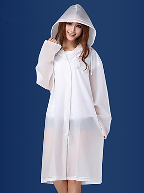 מבוגר חיצונית שקוף מעיל גשם מעיל גשם אופנה גברים ונשים חלבית eva מעובה