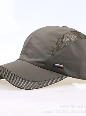 כובע לגברים דיג / כדור בסיס / ספורט פנאי / גולף אדום / אפור כהה / אפור בהיר / שחור / כחול בד / ניילון אביב / קיץ