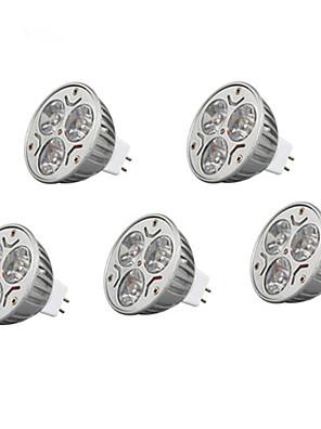 9W GU5.3(MR16) Spot LED MR16 3 LED Haute Puissance 900 lm Blanc Chaud / Blanc Froid / RGB Décorative DC 12 V 5 pièces