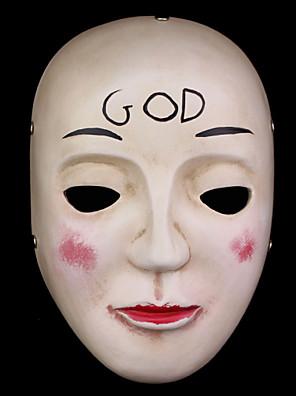 Máscara Fantasias Festival/Celebração Trajes da Noite das Bruxas Beje Estampado Máscara Dia Das Bruxas Unisexo
