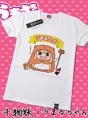 Inspirado por Himouto Fantasias Anime Fantasias de Cosplay Cosplay T-shirt Estampado Amarelo Manga Curta Japonesa/Curta