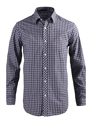 JamesEarl Herre Krave Langt Ærme Shirt & bluse Grå - MB1XC000730