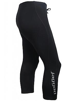 JAGGAD® Calças Para Ciclismo Homens Moto Respirável / Secagem Rápida / Tiras Refletoras 3/4 calças justas / Calças / Fundos NailomCor