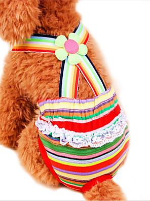 Gatos / Cães Calças Vermelho Roupas para Cães Primavera/Outono Riscas Casamento / Fantasias