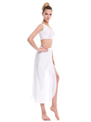 לבוש מועדונים שמלות בגדי ריקוד נשים ספנדקס / פוליאסטר חלק 1 בלי שרוולים שמלות 150