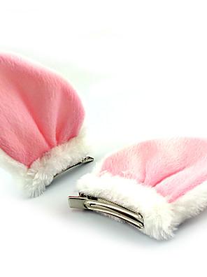 אביזרי לוליטה לוליטה מתוקה לבוש ראש נסיכות לבן / Black לוליטה אביזרים לבוש ראש טלאים ל נשים פליס פולאר