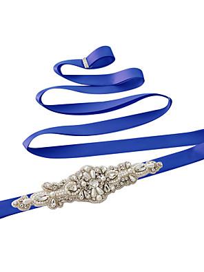 Satin Wedding / Party/ Evening / Dailywear Sash - Sequins / Beading / Pearls / Rhinestone Women's Sashes