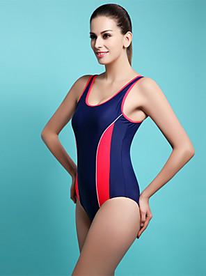 ספורטיבי לנשים בגדי ים ייבוש מהיר One Piece פוש אפ מיתרים אדום / כחול / כתום לבן S / M / L / XL / XXL